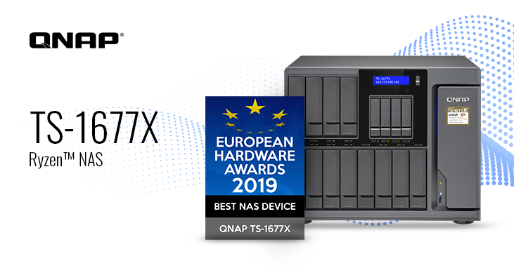 QNAP TS-1677X Wins Best NAS Device in the European Hardware Awards 2019